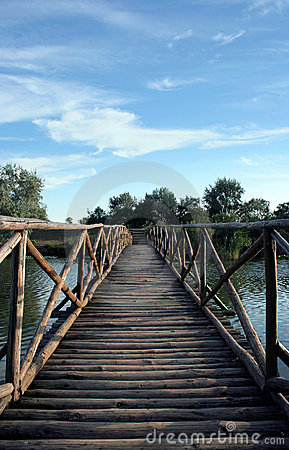 Wood Bridge in Danube Delta