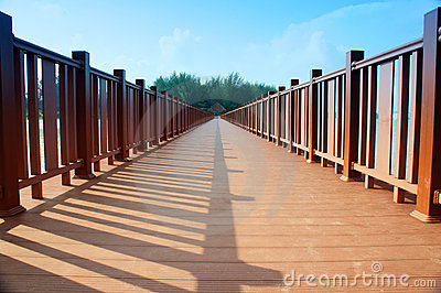 Wood bridge perspective