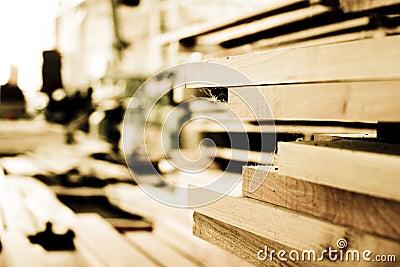 Wood building planks