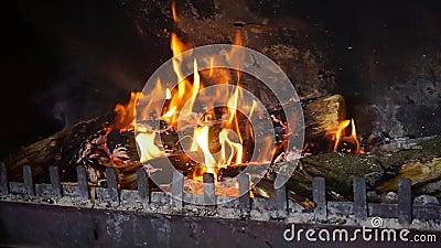 Wood Burning Fireplace Full HD