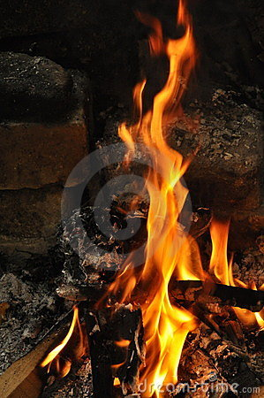 Free Wood Burning On Fire Stock Photo - 14815660
