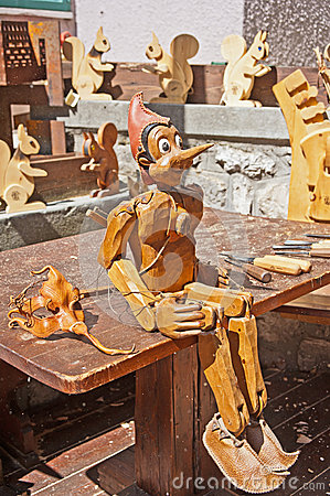 Wood carvers workshop Editorial Image