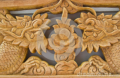The wood carves of thai,