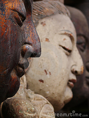 Free Wood Carving Statues Stock Image - 8404181