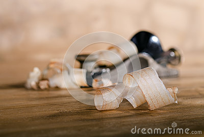 Wood chips on the table