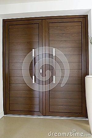 Wood color door