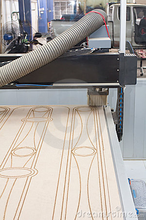 Free Wood Cutter Router CNC Machine Stock Photography - 23213242