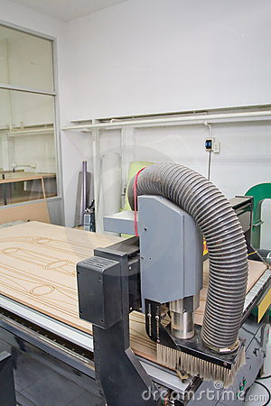Free Wood Cutter Router CNC Machine Royalty Free Stock Photo - 23213265