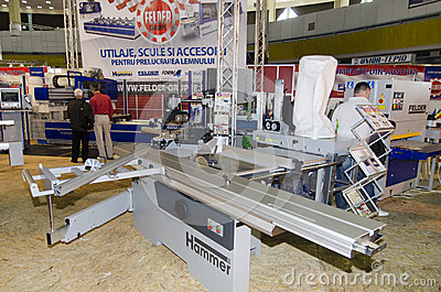Wood cutting machine Editorial Photo