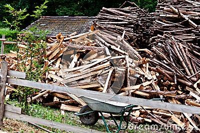 Wood cutting scenery