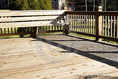 Wood Deck With Seating Area