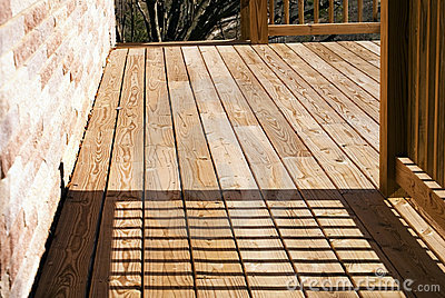 Wood Deck on Side of House