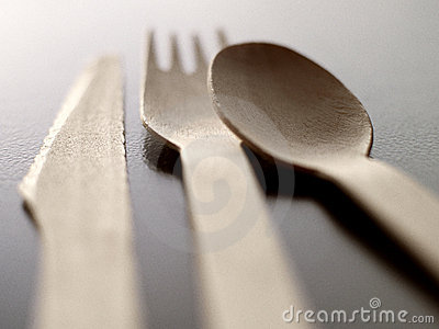 Wood disposable cutlery