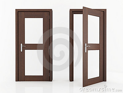Wood door with glass stock photo image 15442540 for Puertas de madera con cristal