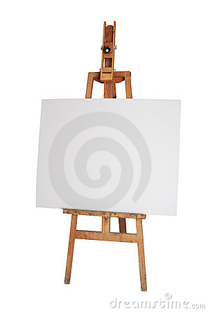 Free Wood Easel Royalty Free Stock Image - 7441116