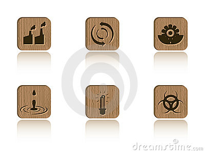 Wood Ecology Tile Set Royalty Free Stock Photo - Image: 5980605