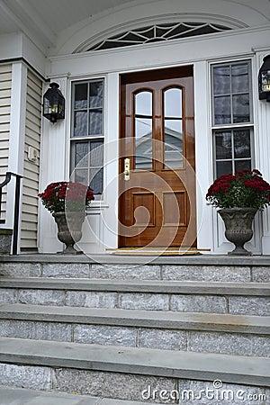 Wood exterior door