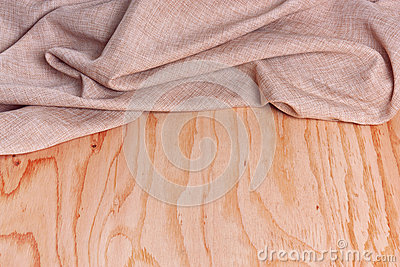 Wood and fabric background