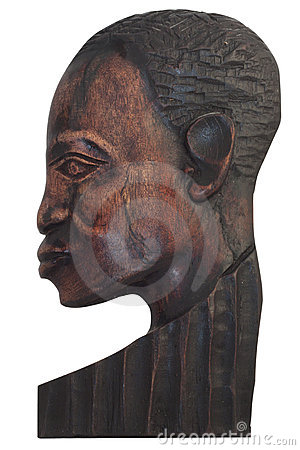 Wood face of the man