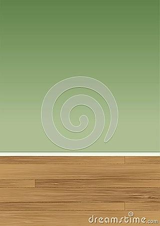 Wood floor wall
