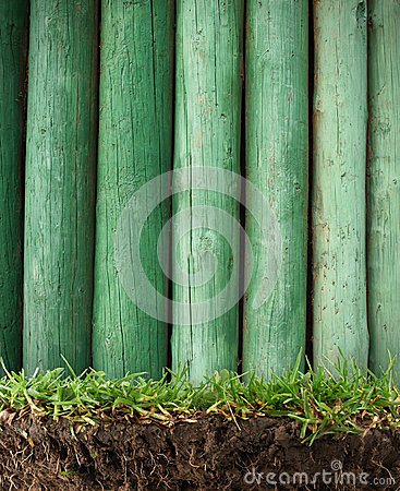 Wood frame in the grass