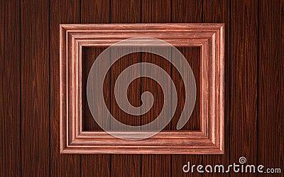 Wood frame on paneling