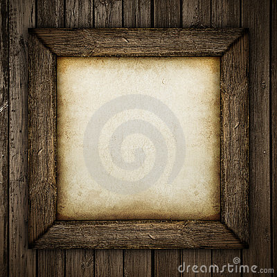 Free Wood Frame With Paper Fill Royalty Free Stock Photo - 23019365