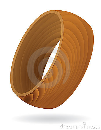 Wood grain textured Ring