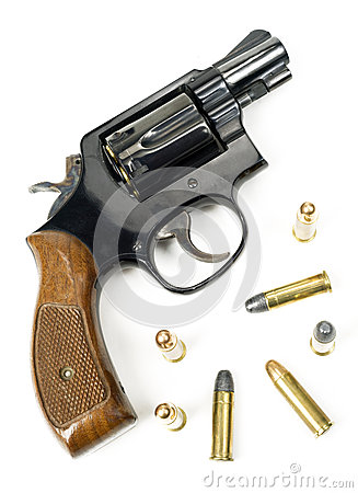 Wood Handle Revolver 38 Caliber Pistol Handgun