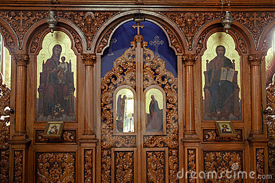 Wood iconostassis Orthodox