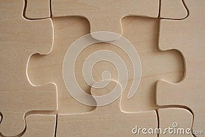 Wood jigsaw element