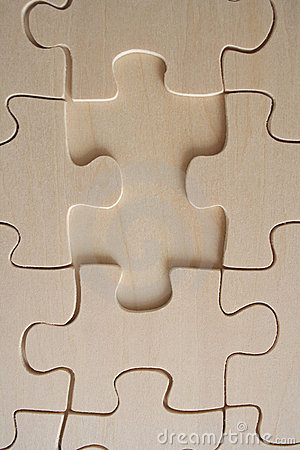 Wood jigsaw piece