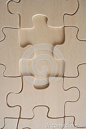 Wood jigsaw piece