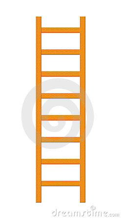 Wood Ladder Isolated on White