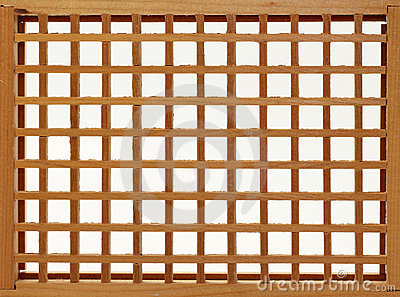 Wood Lattice Frame