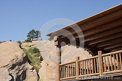 Wood Lumber Balcony by Red Stone Mountain