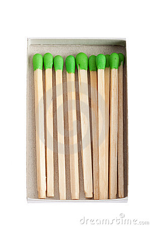Wood matches - green power concept