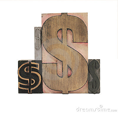 Wood and metal dollar signs