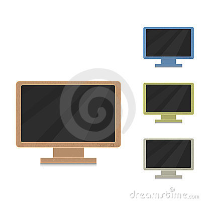 Wood monitor modern style!
