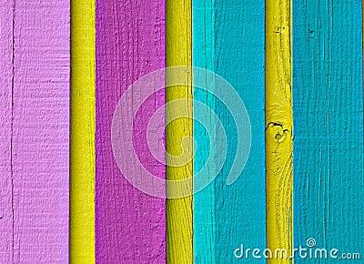 Wood in multi color