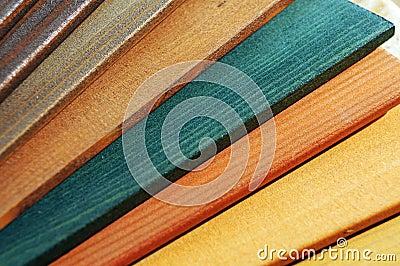Wood paint samples