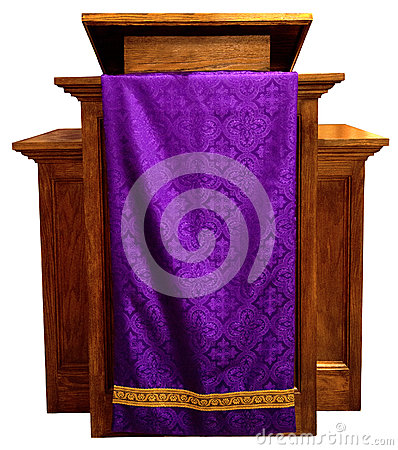 Church Pulpit, Christian Religion, Isolated