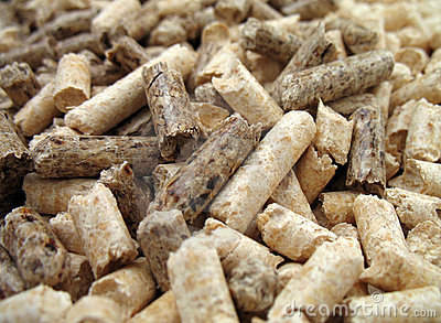 wood pellets close-up