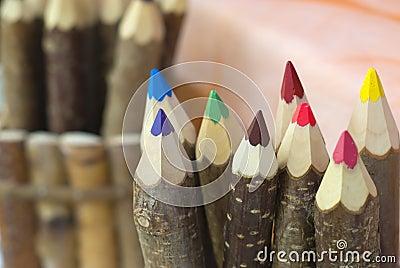 Wood pencil colors