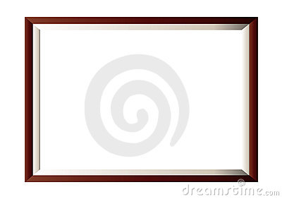 Wood photo frame minimal
