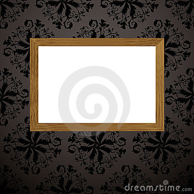 Wood picture frame black