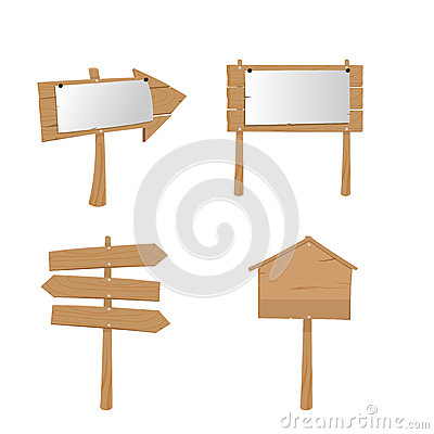 Free Wood Placard Plank Sign Boards Royalty Free Stock Image - 62040896