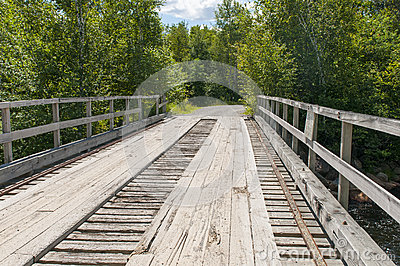 Wood plank bridge