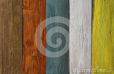 Wood Plank Colored Texture Background Painted Wooden