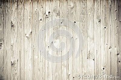 Wood plank fence